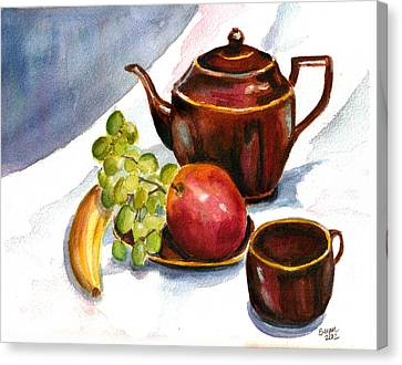 Tea And Fruit Canvas Print