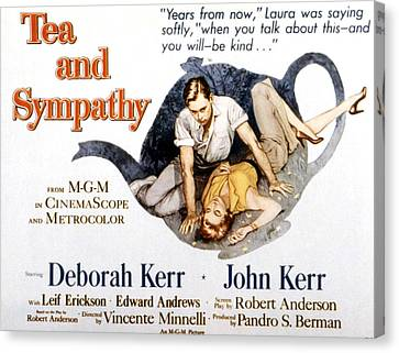 Tea And Sympathy, John Kerr, Deborah Canvas Print