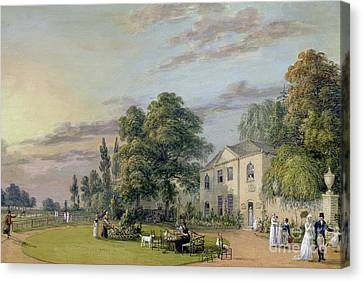 Tea At Englefield Green Canvas Print