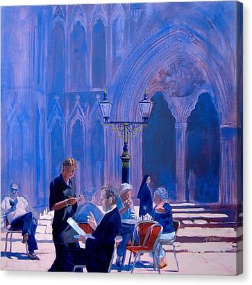 Tea At York Minster Canvas Print by Neil McBride