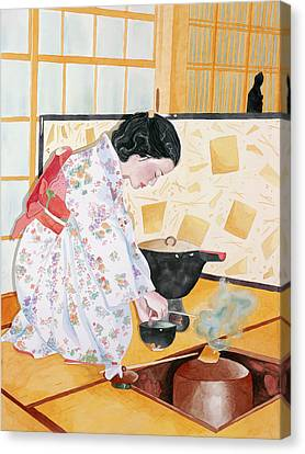 Tea Ceremony Canvas Print by Judy Swerlick