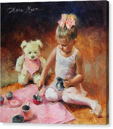 Ballerinas Canvas Print - Tea For Two by Anna Rose Bain