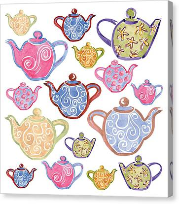 Tea For Two Canvas Print by Sarah Hough