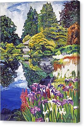 Tea House Lake Canvas Print by David Lloyd Glover