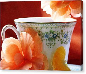 Canvas Print featuring the photograph Tea In The Garden by Angela Davies
