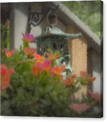 Tea Lantern And Portulaca Canvas Print
