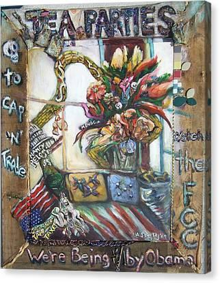 Tea Parties Canvas Print by Lee Anne Stieglitz