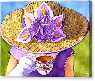 Tea Party Canvas Print by Catherine G McElroy