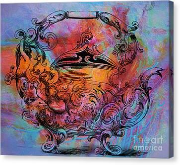 Tea Pot Canvas Print by Tammera Malicki-Wong