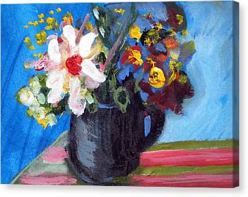Tea Series D Canvas Print by Rebecca Merola