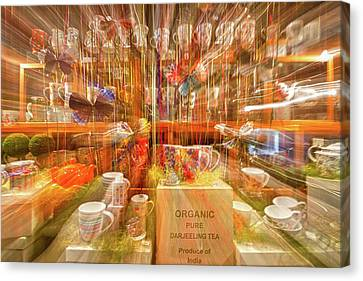 Canvas Print featuring the photograph Tea Store Abstract by Stuart Litoff