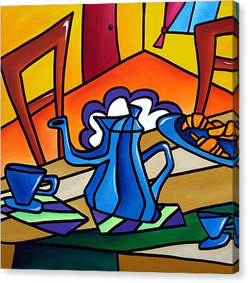 Tea Time - Abstract Pop Art By Fidostudio Canvas Print by Tom Fedro - Fidostudio