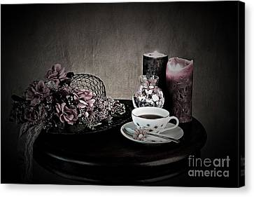 Tea Time 2nd Rendition Canvas Print by Sherry Hallemeier