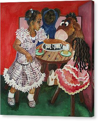 Tea Time Canvas Print by Amira Najah Whitfield