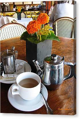 Tea Time Canvas Print by Doreen Whitelock