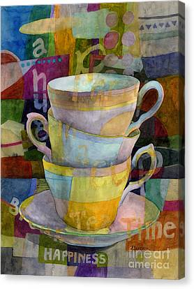 Tea Time Canvas Print by Hailey E Herrera