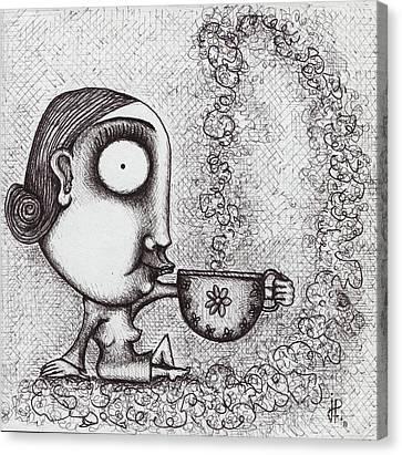 Tea Time Canvas Print by Jorgelina Militon