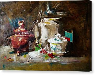 Tea Time Canvas Print by Khalid Saeed