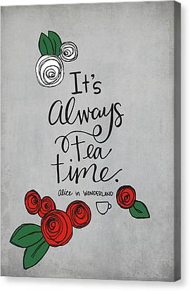 Tea Party Canvas Print - Tea Time by Nancy Ingersoll