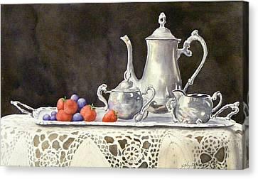 Tea Time  Original Canvas Print