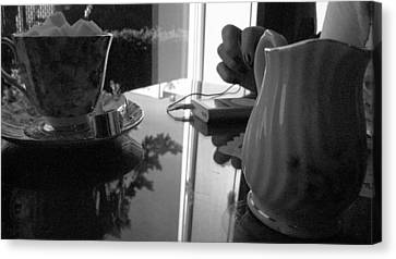 Tea Time With Music Canvas Print by Michael Lee