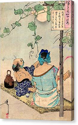 Tea Under The Moon Canvas Print by Padre Art