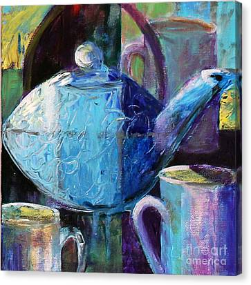 Canvas Print featuring the photograph Tea With Friends by Priti Lathia
