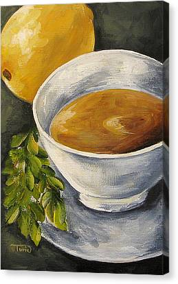 Tea With Mint And Lemon Canvas Print by Torrie Smiley