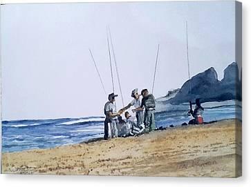 Teach Them To Fish Canvas Print by Tim Johnson