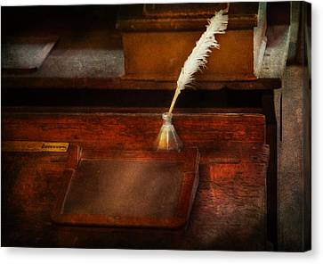 Teacher - The Writing Desk Canvas Print by Mike Savad