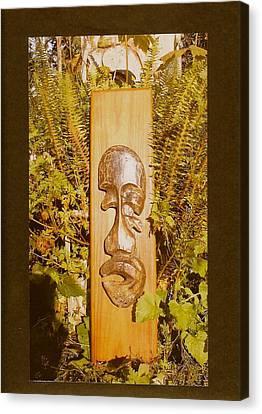 Seat Of The Soul Canvas Print - Teak Man Mask by Eric Singleton
