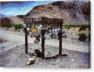 Teakettle Junction At Death Valley - Pa Canvas Print by Leonardo Digenio