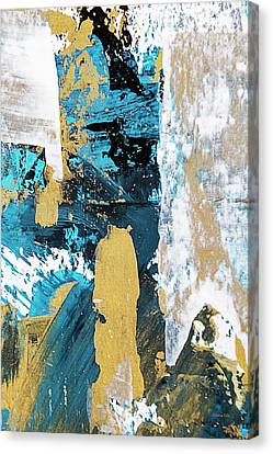Canvas Print featuring the painting Teal Abstract by Christina Rollo