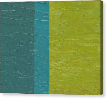 Teal And Olive  Canvas Print by Michelle Calkins