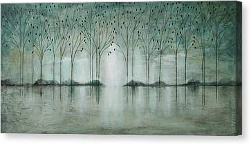 Teal Forest Canvas Print