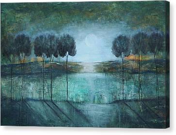 Teal Lake Canvas Print