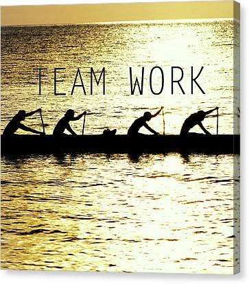Team Work. Canvas Print