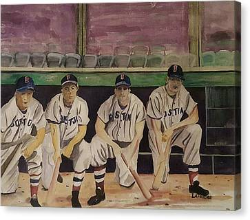 Teamates And Friends Canvas Print by Thomas Lapriore