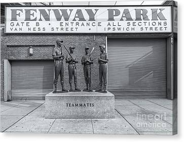 Fenway Canvas Print - Teammates II by Clarence Holmes