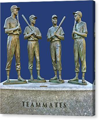 Teammates, Ted, Bobby, Dom And Johnny Canvas Print by Allen Beatty