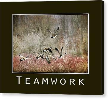 Teamwork Inspirational Poster Canvas Print