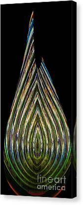Canvas Print featuring the digital art Teardrop by Wendy Wilton
