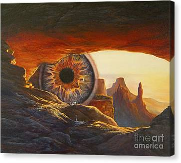 Canvas Print featuring the painting Tears For The Earth by Jeanette French