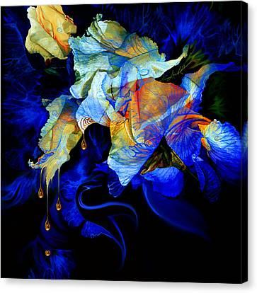 Tears In My Garden Canvas Print