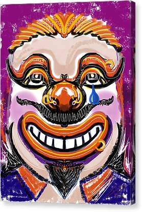 Tears Of A Clown Canvas Print by Russell Pierce