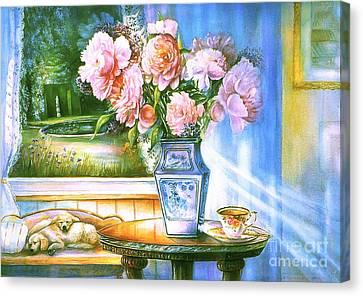 Teatime And Dreams Canvas Print
