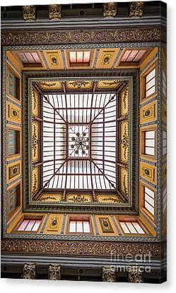 Teatro Juarez Skylight Canvas Print by Inge Johnsson