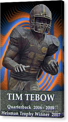 Tebow Canvas Print by D Hackett