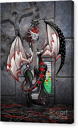 Tech-n-dustrial Music Dragon Canvas Print