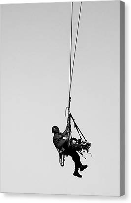 Technical Rescue Demonstration Canvas Print by Steven Ralser